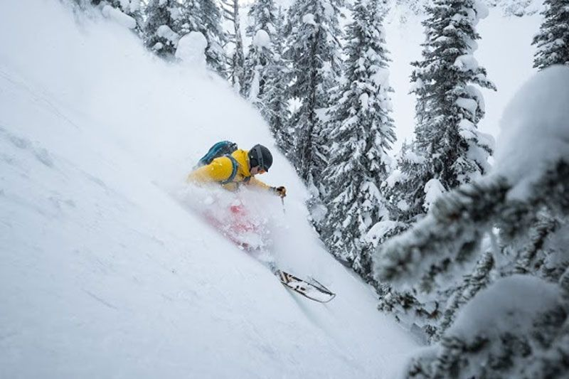 Todd Avison skiing pow at Keefer Lake Lodge Catskiing